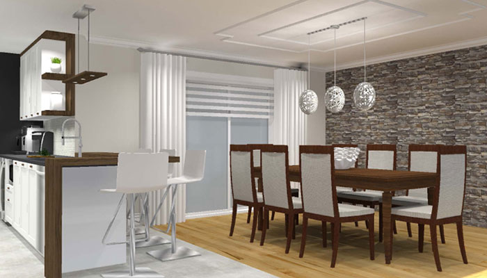 maquette 3d salle à manger